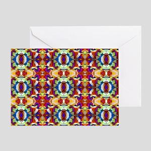 Retro Fractal Art Pattern Greeting Card