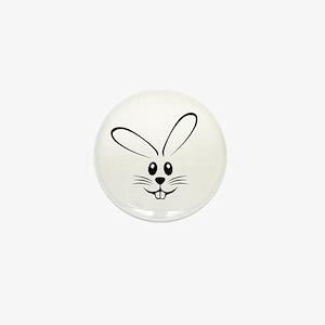 Rabbit Face Mini Button