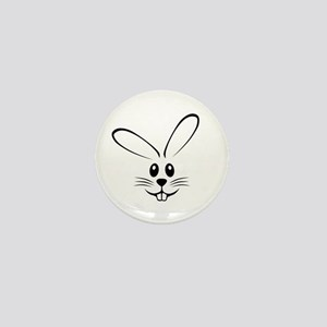 Rabbit Face Mini Button