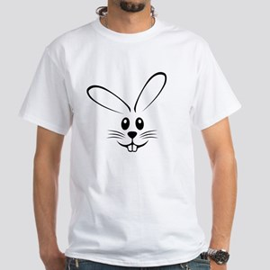 Rabbit Face White T-Shirt