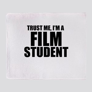 Trust Me, I'm A Film Student Throw Blanket