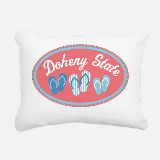 Doheny State Sandal Badg Rectangular Canvas Pillow