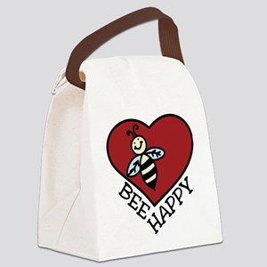 Bee Happy Canvas Lunch Bag
