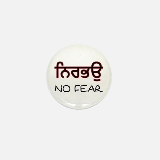 Nirbhau - No Fear Mini Button