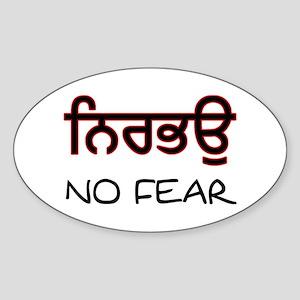 Nirbhau - No Fear Oval Sticker
