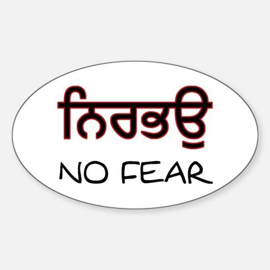 Nirbhau - No Fear Oval Bumper Stickers