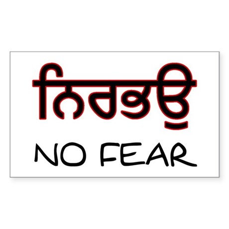 Nirbhau - No Fear Rectangle Sticker