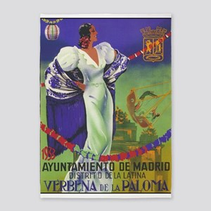 Vintage Spanish Festival Travel 5'x7'area