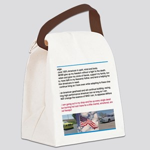 American Gearhead Pledge Canvas Lunch Bag
