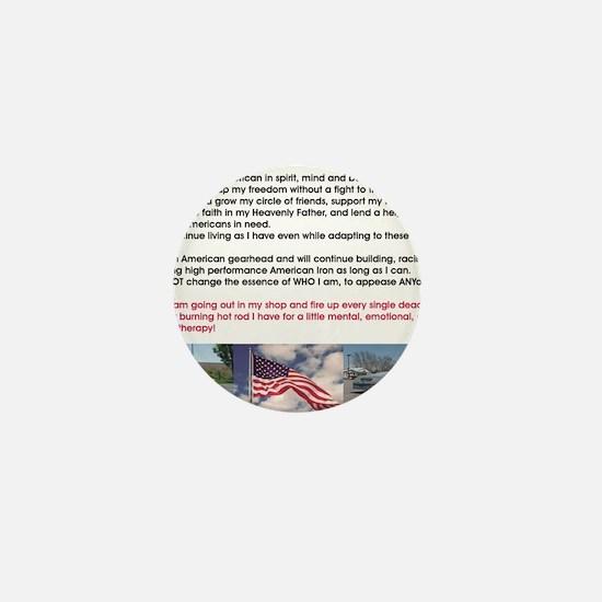 American Gearhead Pledge Mini Button