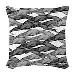 Greyhounds Leaping Art Deco Woven Throw Pillow