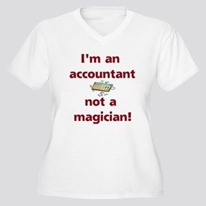 I'm An Accountant Not A Magic Women's Plus Size V-