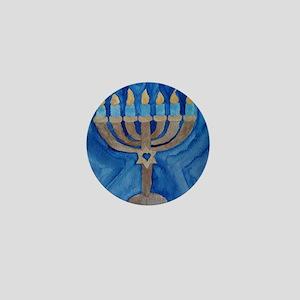 HANUKKAH MENORAH Mini Button