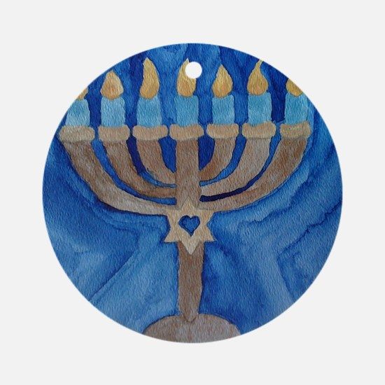 HANUKKAH MENORAH Round Ornament