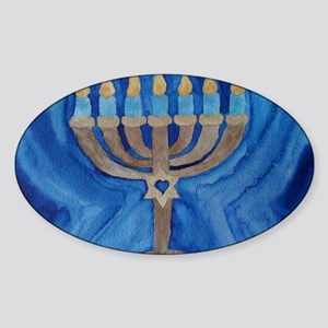 HANUKKAH MENORAH Sticker (Oval)