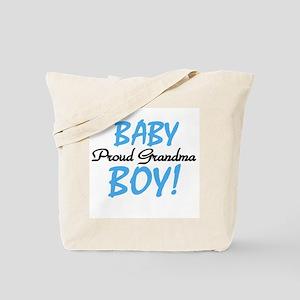 Baby Boy Proud Grandma Tote Bag
