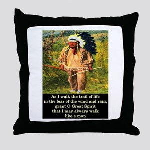 THE TRAIL OF LIFE Throw Pillow