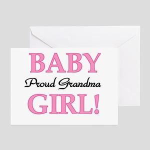 New grandma greeting cards cafepress baby girl proud grandma greeting cards package of m4hsunfo