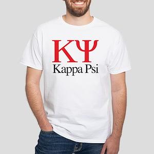 Kappa Psi Letters White T-Shirt