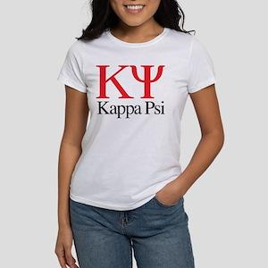 Kappa Psi Letters Women's Classic White T-Shirt