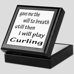 I will Play Curling Keepsake Box