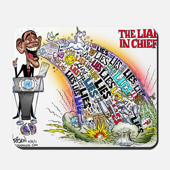 Liar in chief Mousepad