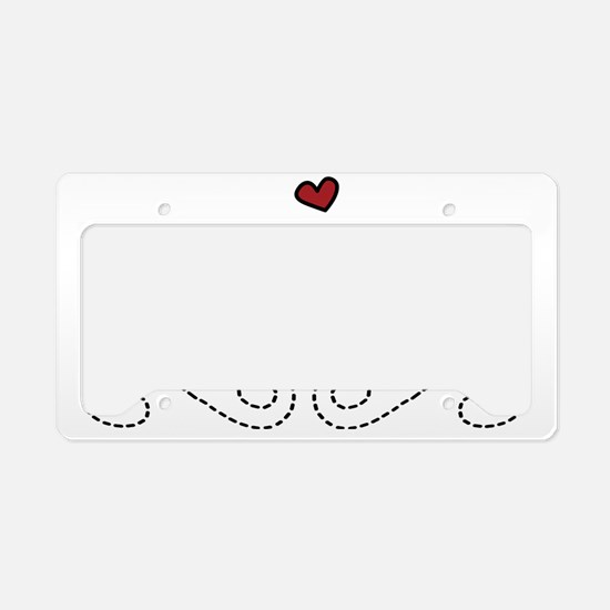 Valentine Fish Love License Plate Holder