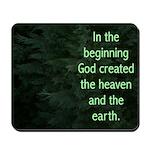 Evergreen Genesis 1:1 Mousepad