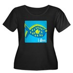 idive reef fish Women's Plus Size Scoop Neck Dark