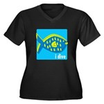 idive reef fish Women's Plus Size V-Neck Dark T-Sh