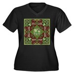 Celtic Dragon Labyrinth Women's Plus Size V-Neck D