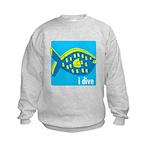 idive reef fish Kids Sweatshirt