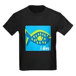 idive reef fish Kids Dark T-Shirt