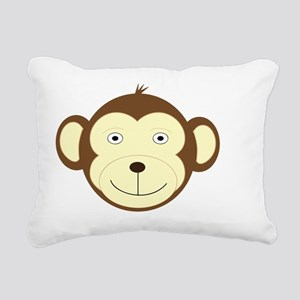Monkey Rectangular Canvas Pillow