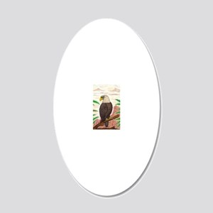 The Great Eagle of Freedom O 20x12 Oval Wall Decal