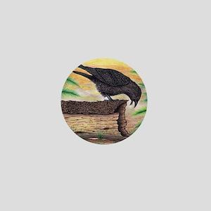 The Curious Crow Original Drawing Mini Button