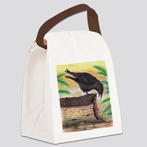 The Curious Crow Original Drawing Canvas Lunch Bag