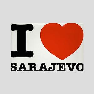 I LOVE SARAJEVO Rectangle Magnet