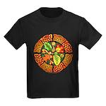 Celtic Autumn Leaves Kids Dark T-Shirt