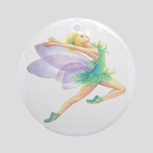 Tinkerbell Ballet Ornament (Round)