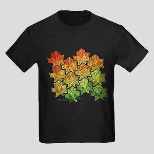 Celtic Leaf Tesselation Kids Dark T-Shirt