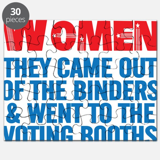 WOMEN CAME OUT OF THE BINDERS TO VOTE IN 20 Puzzle