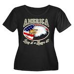 America Love it or Leave it Wmns Plus Sz Scoop Tee