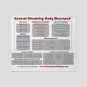 Chemistry Study Tables Throw Blanket