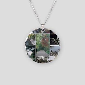 Naperville Riverwalk Necklace Circle Charm