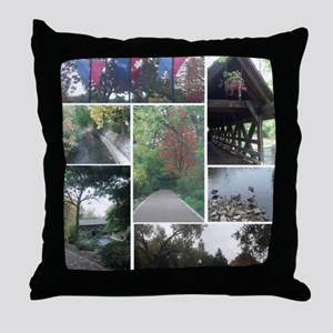 Naperville Riverwalk Throw Pillow