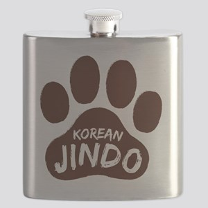 Korean Jindo Paw Print Flask