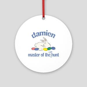 Easter Egg Hunt - Damien Ornament (Round)