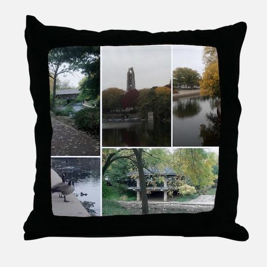 Naperville Riverwalk Throw Pillow