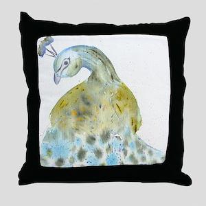 uiad_wc_peacock_shower Throw Pillow